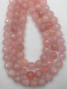 Roze kvarc 14 mm fasetiran