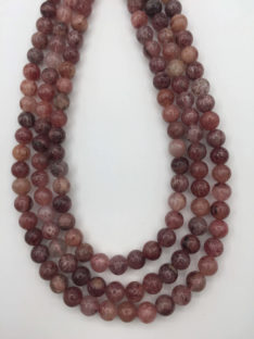 Jagoda ( Strawberry ) kvarc 8 mm