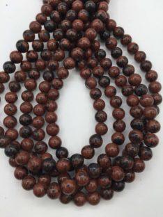 Obsidijan mahagoni 8 mm