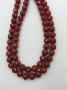 Jaspis 8 mm crveni fasetirani