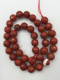 Jaspis 10 mm crveni fasetirani