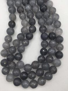 Sivi kvarc 12 mm fasetiran