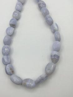 Kalcedon plava čipka ovali